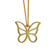 Tiffany Inspired Gold Vermeil Butterfly Pendant