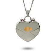 Mom Secret Message Engravable Heart Locket