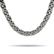 Mens Stainless Steel Bali Link Necklace