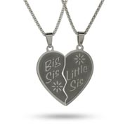 Engravable Sisters Pendant Set