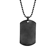 Engravable Gunmetal Stainless Steel Dog Tag
