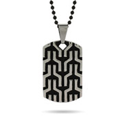 Designer Inspired Tribal Design Engravable Dog Tag