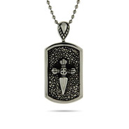 Engravable Medieval Cross Dog Tag