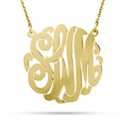 Gold Vermeil Medium Custom Monogram Necklace