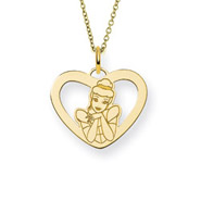 Gold Vermeil Cinderella Pendant Officially Licensed Disney Jewelry