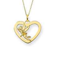 Gold Vermeil Tinkerbell Pendant - Officially Licensed Disney Jewelry