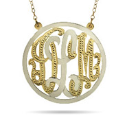 Gold Vermeil Two Tone Custom Monogram Pendant