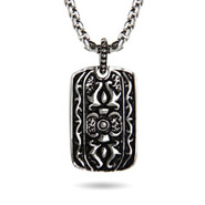Stainless Steel Engravable Tribal Design Dog Tag