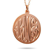 Rose Gold Vermeil Large Monogram Tag Pendant