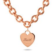 Tiffany Inspired Rose Gold Heart Tag Necklace