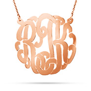 Rose Gold Vermeil Large Custom Monogram Necklace