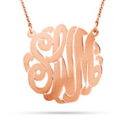 Rose Gold Vermeil Medium Custom Monogram Necklace