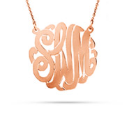 Rose Gold Vermeil Small Custom Monogram Necklace