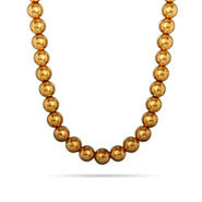 Tiffany Inspired 8mm 14K Gold Plated Bead Necklace