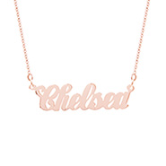 Simple Script Rose Gold Vermeil Name Necklace