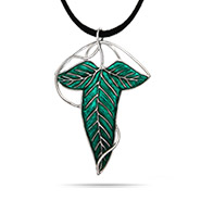 The Lord of the Rings Inspired Sterling Silver Elven Leaf Pin Pendant