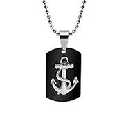 Engravable Nautical Anchor Dog Tag