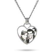 Stainless Steel Heart Charm Photo Pendant