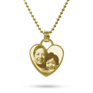 18K Gold Plated Heart Charm Photo Pendant