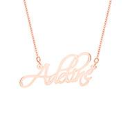 Fancy Script Rose Gold Vermeil Custom Name Necklace