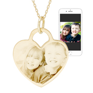 Gold Vermeil Heart Photo Pendant