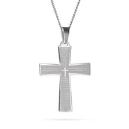 Engravable Lords Prayer Cross Pendant