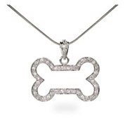 The Dog Pound CZ Bone Sterling Silver Pendant