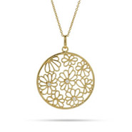 Pretty Gold Vermeil Flower Pendant
