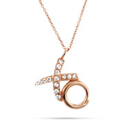 Tiffany Inspired Rose Gold Vermeil Hugs and Kisses Pendant