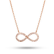 Rose Gold Vermeil CZ Infinity Necklace