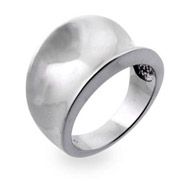 Tiffany Inspired Concave Sterling Silver Ring