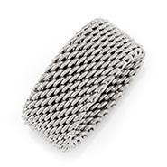 Tiffany Style Sterling Silver Mesh Ring
