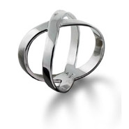 Tiffany Style X Ring in Sterling Silver