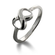 Tiffany Style Sterling Silver Infinity Ring