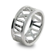 Tiffany Inspired Atlas Style Open Sterling Silver Ring