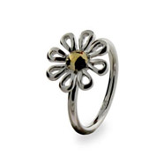 Tiffany Inspired Paloma Picasso Sterling Silver Daisy Ring