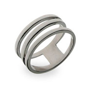 Sterling Silver Open Diagonal Ring