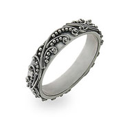 Sterling Silver Stackable Ring in Bali Design