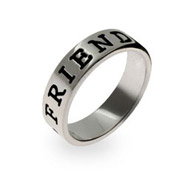 Friend Sterling Silver Friendship Ring