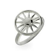 Tiffany Inspired Sterling Silver Sun Ring