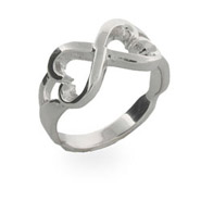 Sterling Silver Twisted Heart Ring