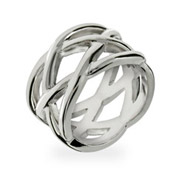 Tiffany Inspired Sterling Silver Celtic Knot Ring