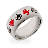 Stainless Steel Poker Ring