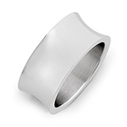 Concave Style Stainless Steel Wedding Band