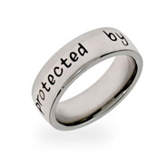 Protected by an Angel Stainless Steel Band