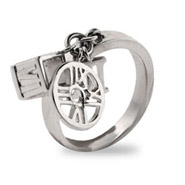 Tiffany Inspired Sterling Silver Atlas Charm Ring