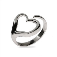 Sterling Silver Open Heart Wrap Ring