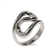 Tiffany Inspired Sterling Silver Wave Ring