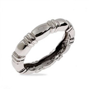 Thin Banded Sterling Silver Stackable Ring