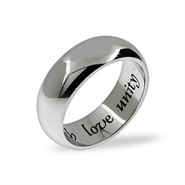 Faith, Love, Unity Stainless Steel Wedding Band